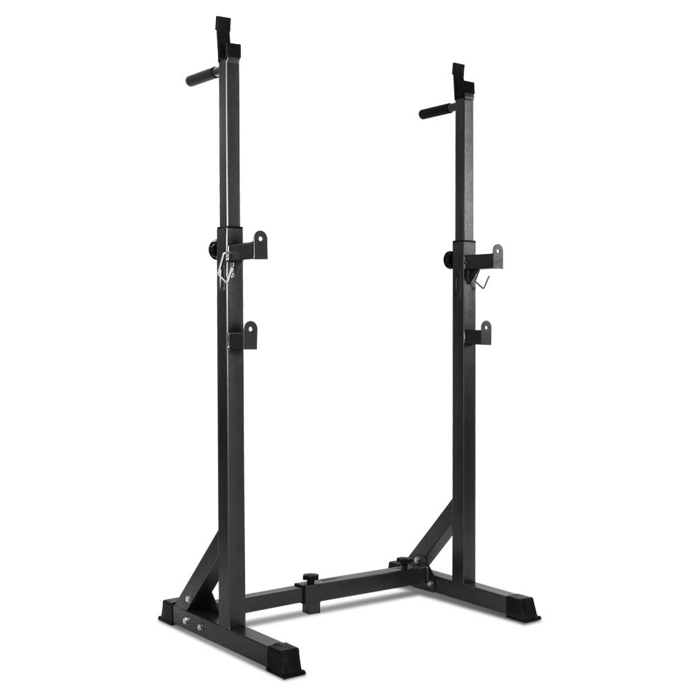 Everfit Squat Rack Pair Fitness Weight Lifting Gym Exercise Barbell Stand 1