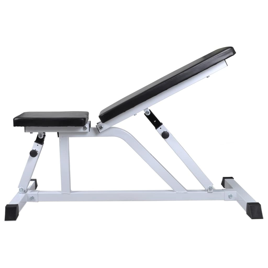 Workout Bench with Barbell and Dumbbell Set 30.5 kg